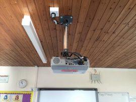 School projector install